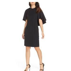 Eliza J sheath cape dress NWT